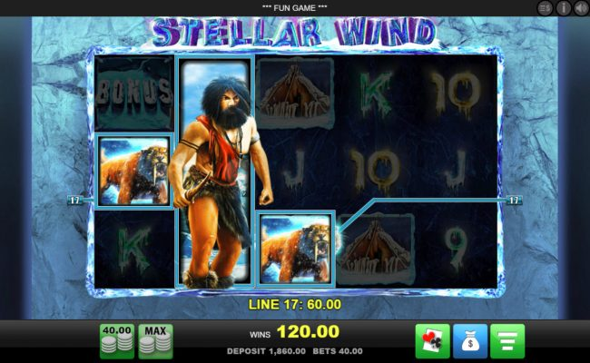Grand Ivy featuring the Video Slots Stellar Wind with a maximum payout of $50,000