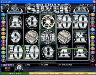 Play slots at Casino Splendido: Casino Splendido featuring the Video Slots Sterling Silver with a maximum payout of $200,000