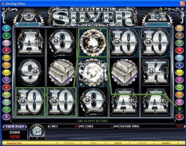 Winward featuring the Video Slots Sterling Silver with a maximum payout of $200,000