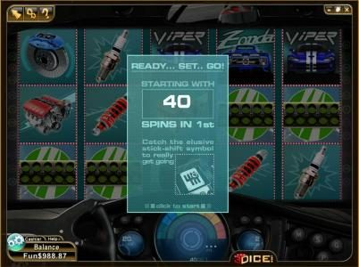 Play slots at 3Dice: 3Dice featuring the Video Slots Stick Shifter with a maximum payout of $1,125