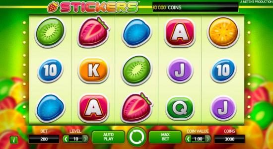 Touch Lucky featuring the Video Slots Stickers with a maximum payout of $80,000