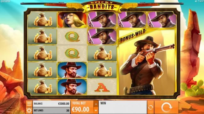 Play slots at Thrills: Thrills featuring the Video Slots Sticky Bandits with a maximum payout of $54,000