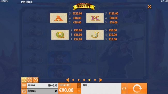 Spin Station featuring the Video Slots Sticky Bandits with a maximum payout of $54,000