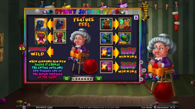 Stinky Socks Slots :: Feature Rules