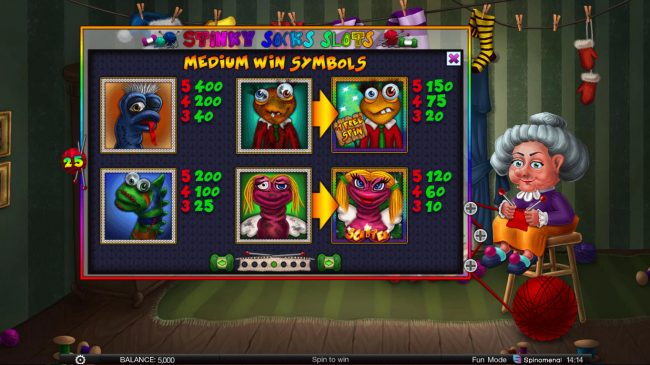 NordiCasino featuring the Video Slots Stinky Socks Slots with a maximum payout of $100,000