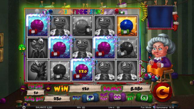Stinky Socks Slots :: Free Spins Game Board