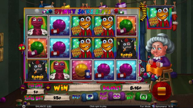 Stinky Socks Slots :: Free Spins Activated