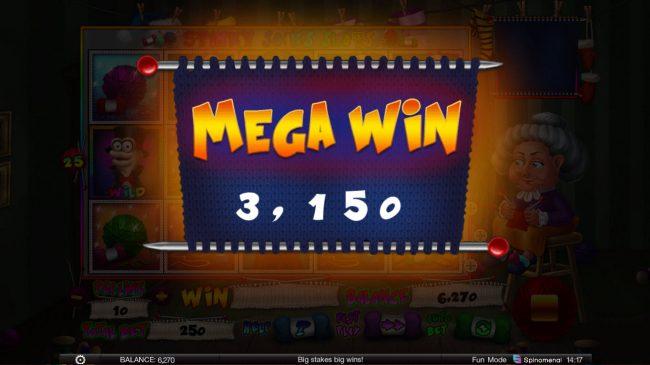 Stinky Socks Slots :: Mega Win
