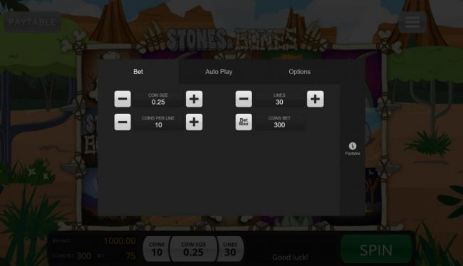 India Slots featuring the Video Slots Stones & Bones with a maximum payout of $5,0000