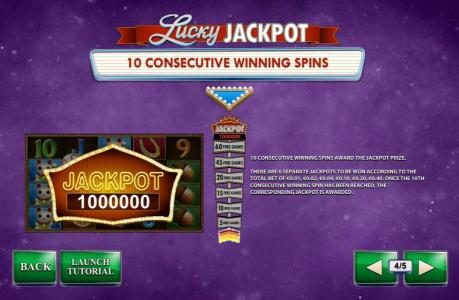Sky Kings featuring the Video Slots Streak of Luck with a maximum payout of $1,000,000
