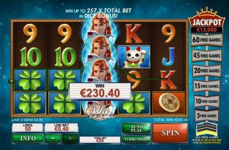 Coral featuring the Video Slots Streak of Luck with a maximum payout of $1,000,000