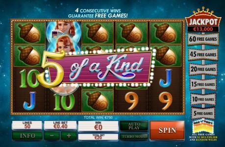 Casino Lucky Win featuring the Video Slots Streak of Luck with a maximum payout of $1,000,000