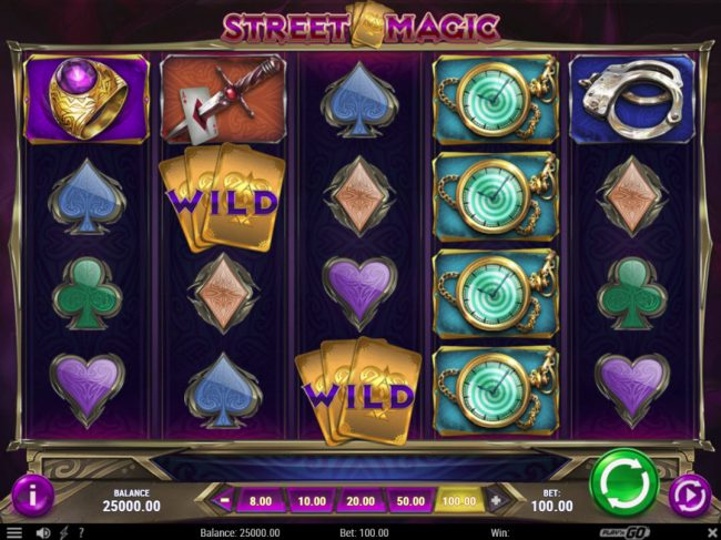 Bet At Casino featuring the Video Slots Street Magic with a maximum payout of $500,000