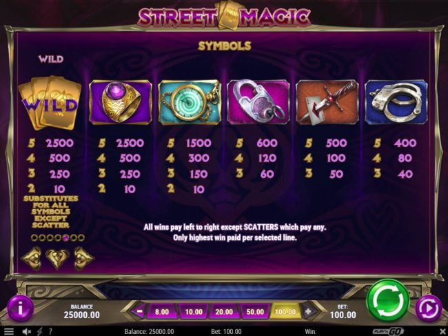 Play slots at Vegas Hero: Vegas Hero featuring the Video Slots Street Magic with a maximum payout of $500,000