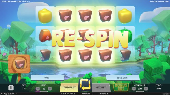 All Wins Casino featuring the Video Slots Strolling Staxx Cubic Fruits with a maximum payout of $100,000