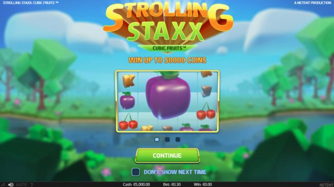 Play slots at 7Sultans: 7Sultans featuring the Video Slots Strolling Staxx Cubic Fruits with a maximum payout of $100,000