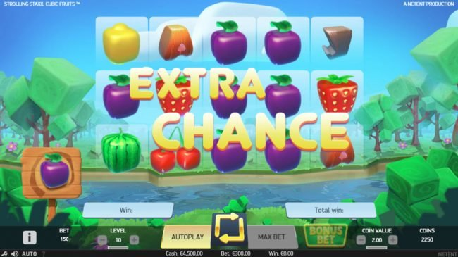 Lord of the Spins featuring the Video Slots Strolling Staxx Cubic Fruits with a maximum payout of $100,000