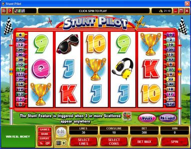 Lucky247 featuring the Video Slots Stunt Pilot with a maximum payout of $29,300