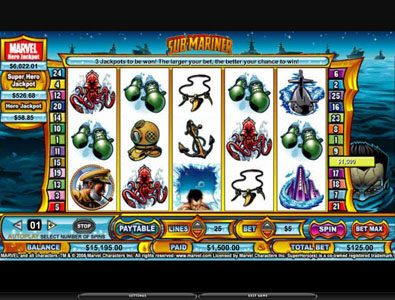 Africa Casino featuring the video-Slots Sub-Mariner with a maximum payout of 5,000x