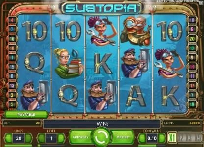 Play slots at Diamond Club VIP: Diamond Club VIP featuring the Video Slots Subtopia with a maximum payout of $50,000
