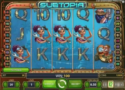 Guru Play featuring the Video Slots Subtopia with a maximum payout of $50,000