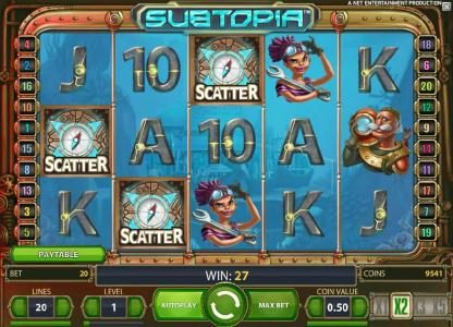 Play Million featuring the Video Slots Subtopia with a maximum payout of $50,000