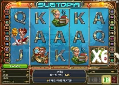 Wicked Bet featuring the Video Slots Subtopia with a maximum payout of $50,000