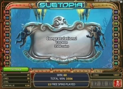 4 Stars featuring the Video Slots Subtopia with a maximum payout of $50,000