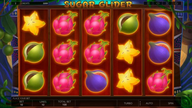 Crystal featuring the Video Slots Sugar Glider with a maximum payout of $100,000