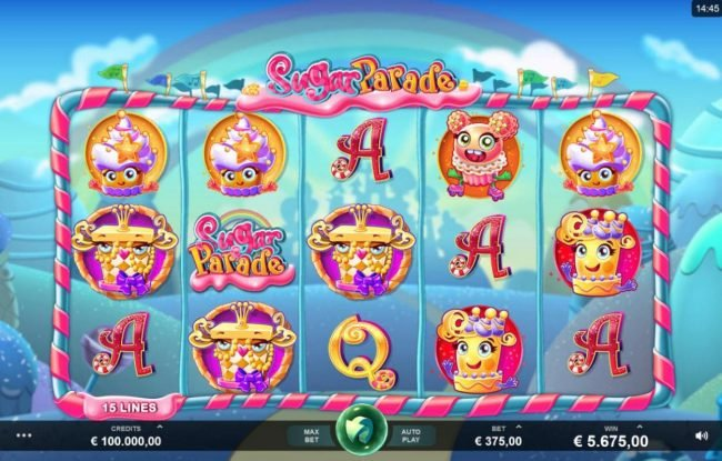 Play slots at Casino Splendido: Casino Splendido featuring the Video Slots Sugar Parade with a maximum payout of $620,000