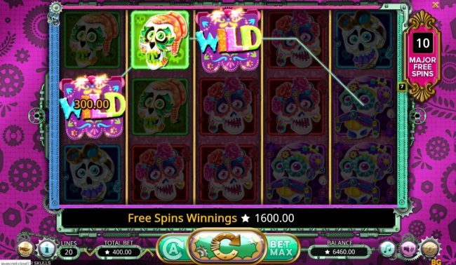 Sugar Skulls :: Free Spins Game Board