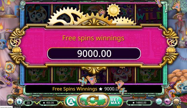 Sugar Skulls :: Total Free Spins Payout