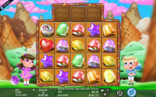 Wintingo featuring the Video Slots Sugar Smash with a maximum payout of $375,000