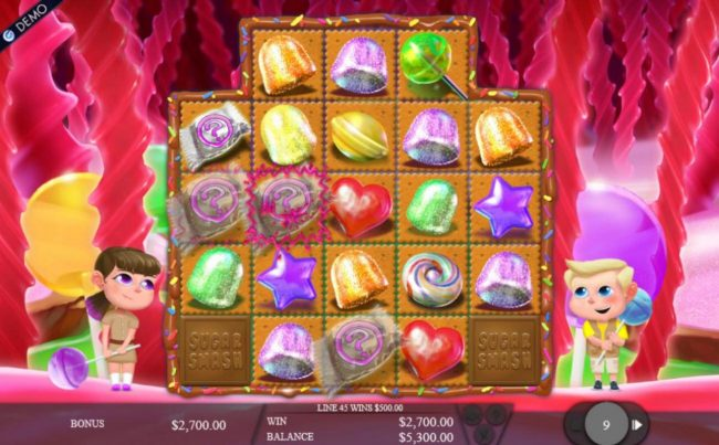 Play slots at Casino Extra: Casino Extra featuring the Video Slots Sugar Smash with a maximum payout of $375,000