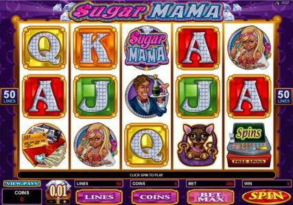 Roxy Palace featuring the Video Slots Sugar Mama with a maximum payout of $15,000