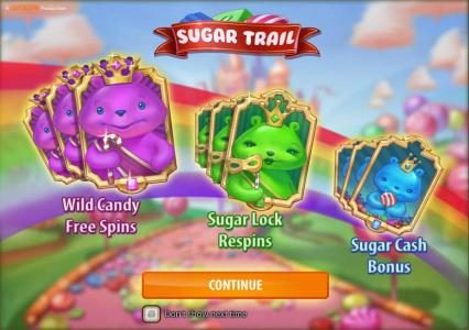 Play slots at Intercasino: Intercasino featuring the Video Slots Sugar Trail with a maximum payout of $100,000