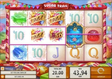 Money Storm featuring the Video Slots Sugar Trail with a maximum payout of $100,000
