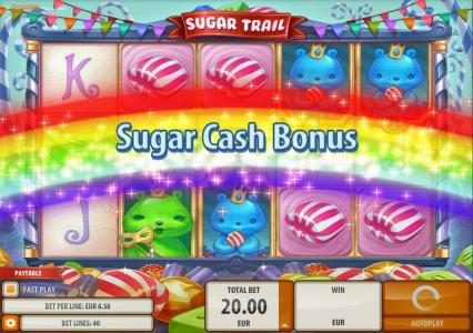 Play slots at Joy Casino: Joy Casino featuring the Video Slots Sugar Trail with a maximum payout of $100,000