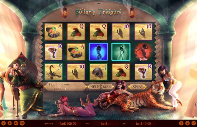 Sultan's Treasure :: Main Game Board
