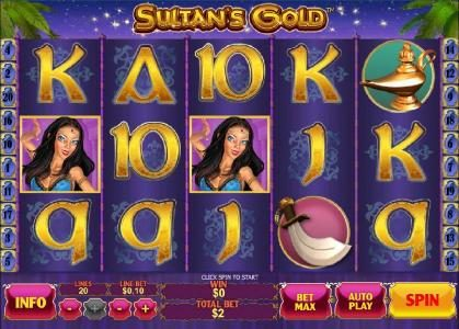 PropaWin featuring the Video Slots Sultan's Gold with a maximum payout of $250,000