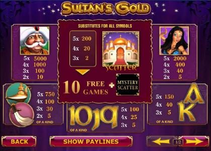 Play slots at William Hill Casino Club: William Hill Casino Club featuring the Video Slots Sultan's Gold with a maximum payout of $250,000