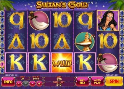 Slots Heaven featuring the Video Slots Sultan's Gold with a maximum payout of $250,000