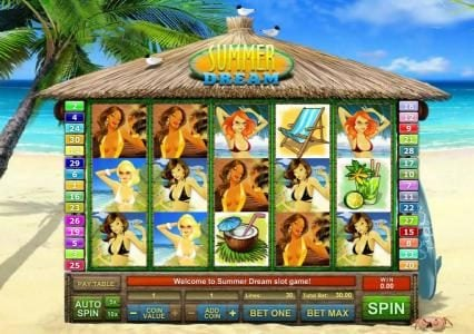 1BET featuring the Video Slots Summer Dream with a maximum payout of $3,000