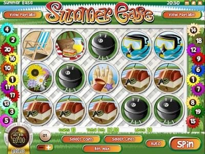 Play slots at Dendera: Dendera featuring the Video Slots Summer Ease with a maximum payout of $22,220