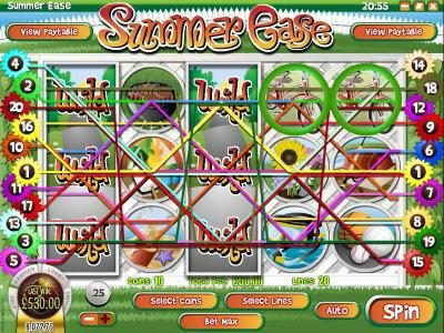 Vortex featuring the Video Slots Summer Ease with a maximum payout of $22,220