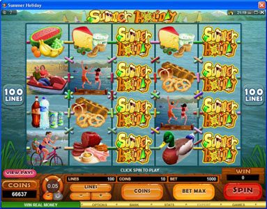21 Dukes featuring the Video Slots Summer Holiday with a maximum payout of $1,125,000