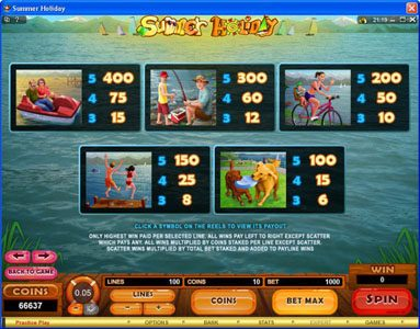 Virgin featuring the Video Slots Summer Holiday with a maximum payout of $1,125,000