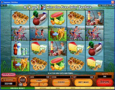 Play slots at Royal Vegas: Royal Vegas featuring the Video Slots Summer Holiday with a maximum payout of $1,125,000