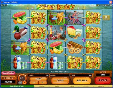 Casino Red Kings featuring the Video Slots Summer Holiday with a maximum payout of $1,125,000