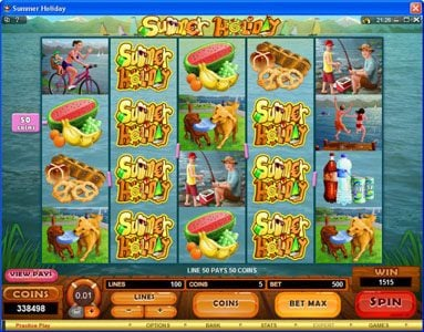 Lucky 247 featuring the Video Slots Summer Holiday with a maximum payout of $1,125,000